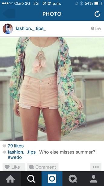 shorts pink pastel short