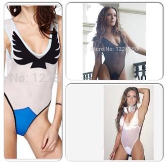 swimwear white black blue monokini one piece swimsuit one piece bodysuit