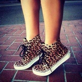 shoes vans cheetha print