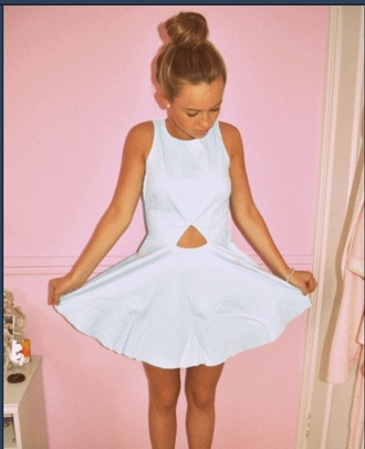dress white tumblr cut-out clothes triangle