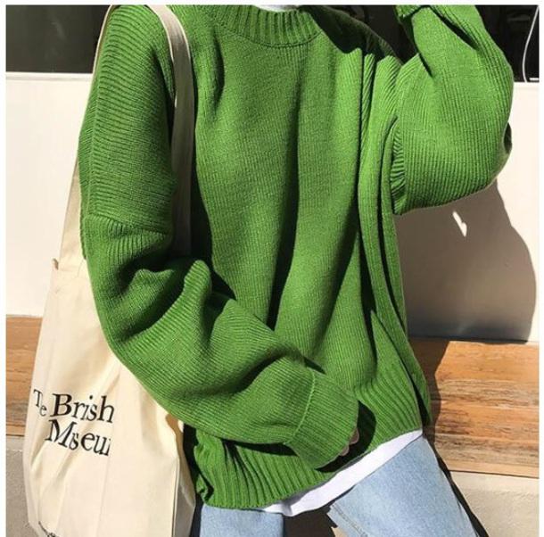 sweater girly tumblr green sweatshirt jumper