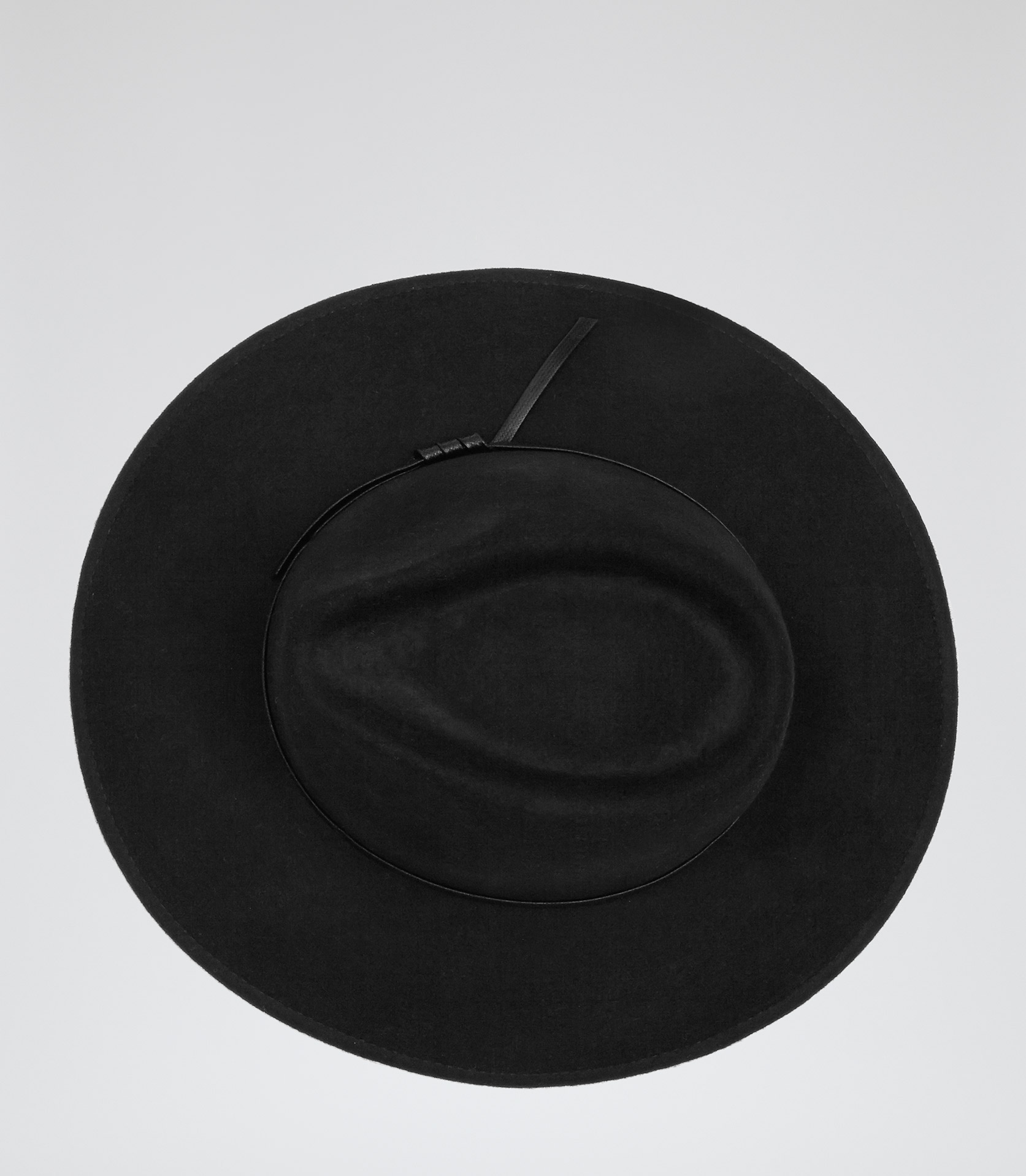Ava Black Wool Trilby Hat - REISS