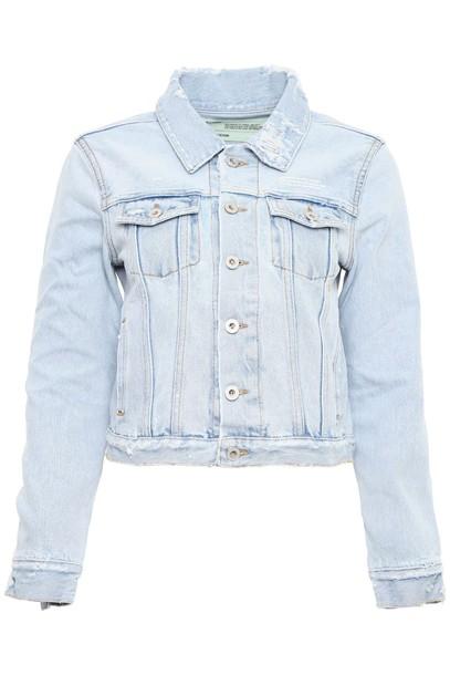 Off-White jacket denim jacket denim