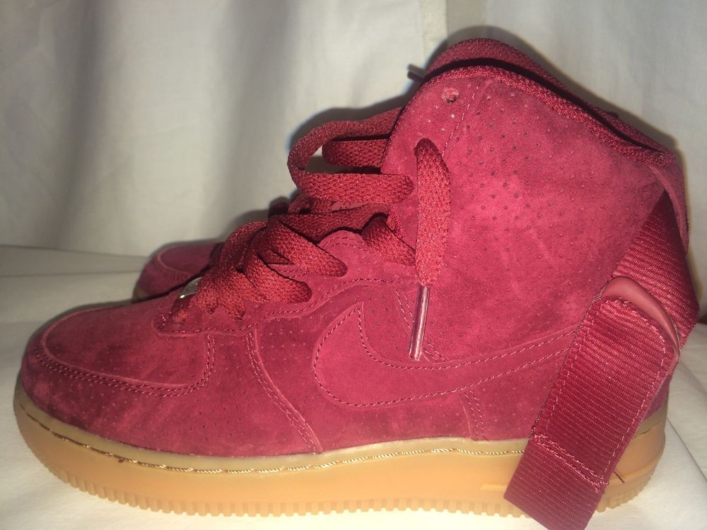 online retailer 22c63 f6ce8 Nike Air Force 1 High Top Suede Burgundy