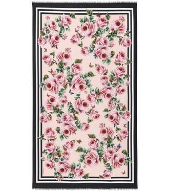 printed scarf scarf floral pink