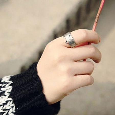 shopbazar shopping mall — [grzxy61000044]Lovely Bear Cut Out Adjustable Open Ring