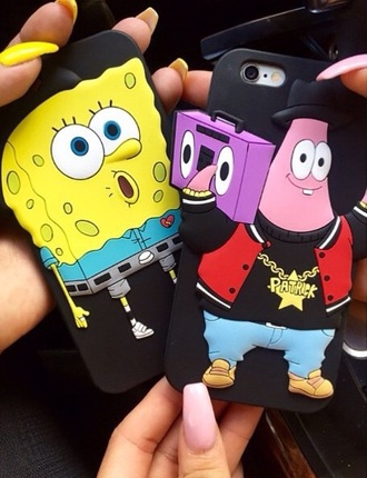 nail polish yellow pink black blue grey gray white purple red brown unisex nails spongebob patrick best friends phone case style spongebob patrick fashion bestfriends phone cover