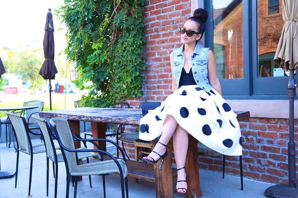 ktr style blogger top jacket skirt shoes bag