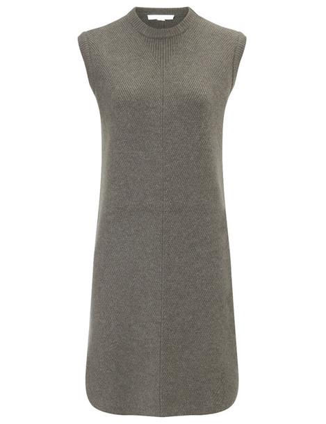 dress oversized wool grey