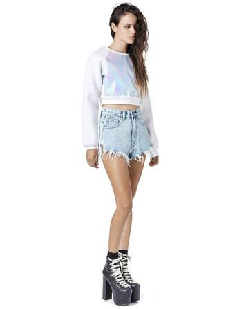 unif winter outfits shiny holographic