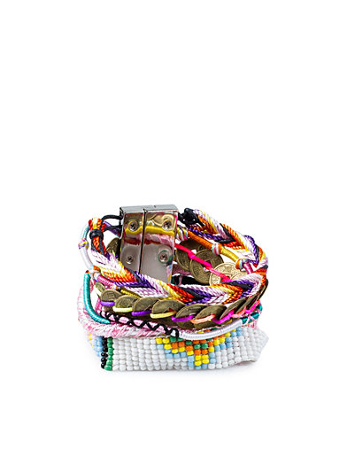 Multi Braided Bracelet - Nly Accessories - Rosa/Guld - Smycken - Accessoarer - Kvinna - Nelly.com