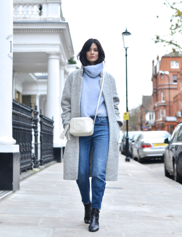 northern light sweater jeans coat shoes bag