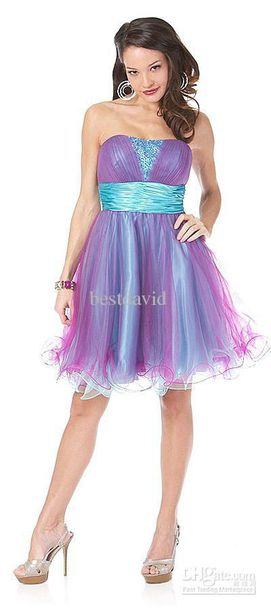 dress blue purple strapless prom homecoming asian fashion black sexy dress formal dress formal winter formal dress tulle dress