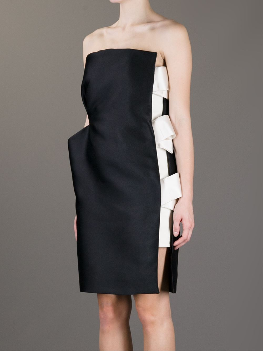 Lanvin Bow Detail Strapless Dress - Biffi - Farfetch.com