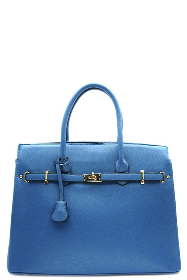 bag blue statement handbag