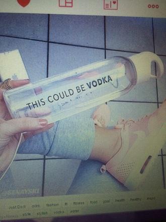 jewels watebottle fitness run nike apple vodka girl summer water bottle pink grey music fahsion