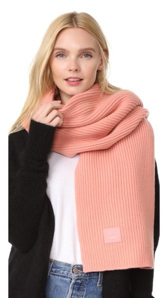 Acne Studios Bansy L Face Scarf in pink