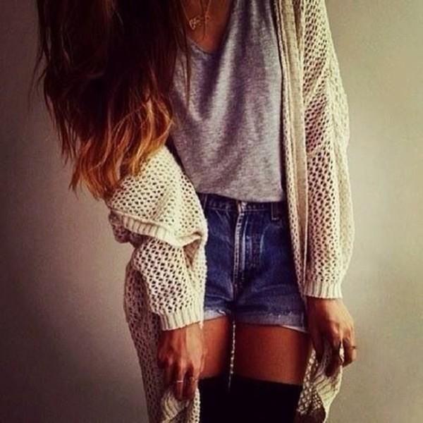 shorts perfect combination love winter sweater jacket shirt blouse t-shirt