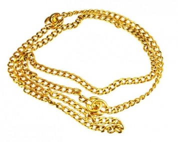 Chanel Gold Cuban Link Chain Double Belt | Tradesy