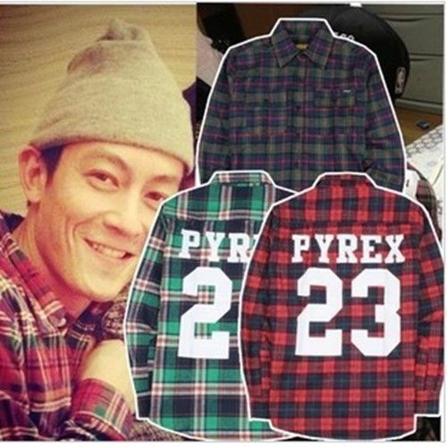 Men pyrex vision 23 west kanye flannel t
