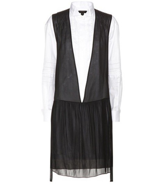 Burberry Silk And Cotton Shirt Dress in black