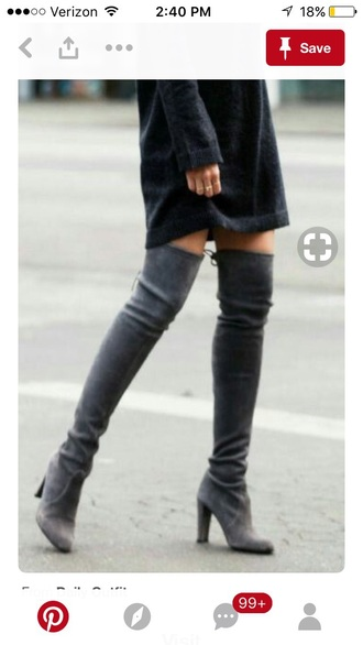 shoes black over the knee boots suede boots velvet boots suede over the knee boots