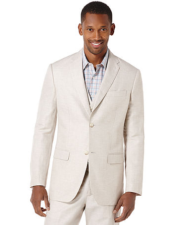 Perry Ellis Linen Blazer - Men - Macy's