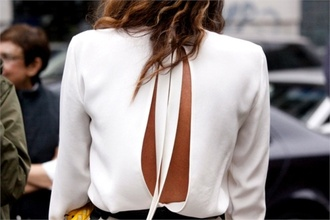blouse clothes open back