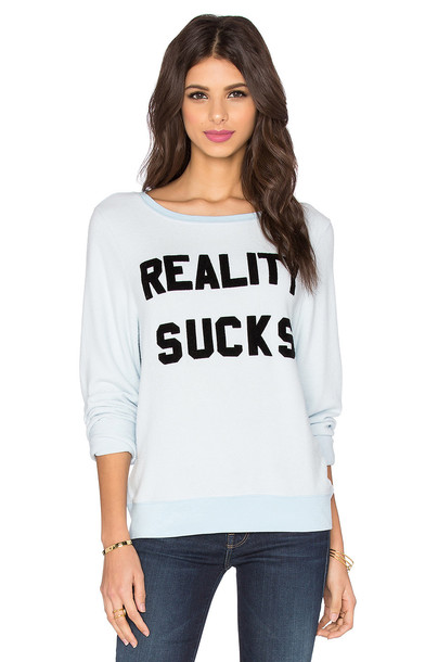 Wildfox Couture sweatshirt blue