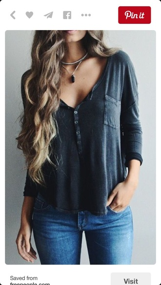 blouse long sleeves shirt lazy day jeans cute top jewels