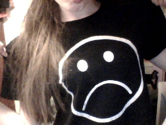shirt sad grunge pale black black t-shirt