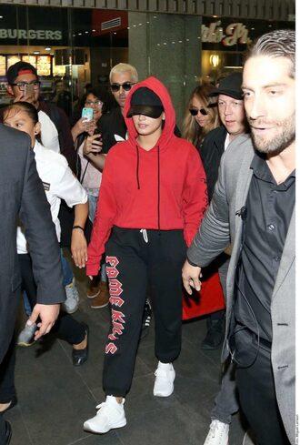 sweater hoodie demi lovato sweatpants sweatshirt sneakers sportswear pants
