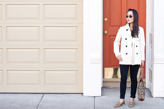 shoes bag it's not her it's me blogger coat jeans sweater top sunglasses