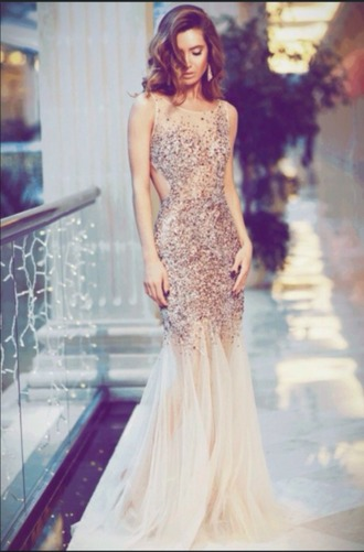 dress prom glitter gold long maxi