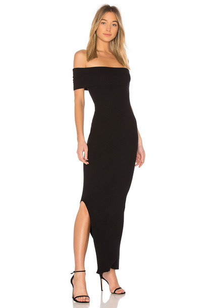 525 america dress maxi dress maxi off the shoulder black