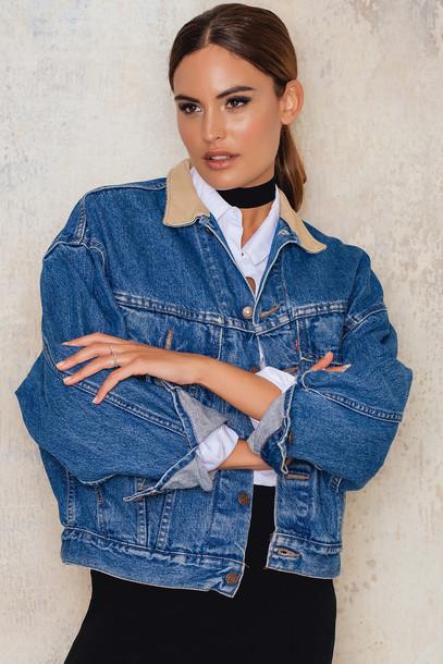 NA-KD Vintage Oversized Levis Vintage Jeans Jacket