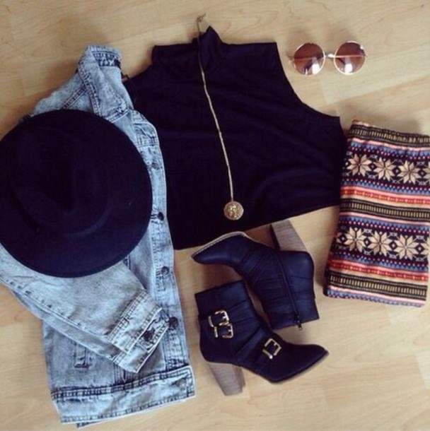 hat jacket jewels pants shoes sunglasses top