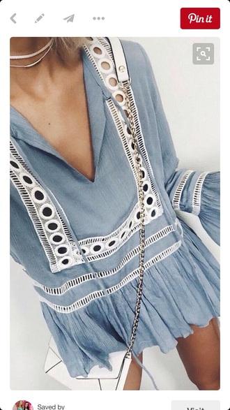 blouse blue flowy blouse blue blouse blue bell sleeves