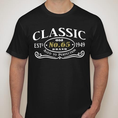 1949 AGED TO PERFECTION 65th Birthday Black Gift T-Shirt Funny Sz S - XXL