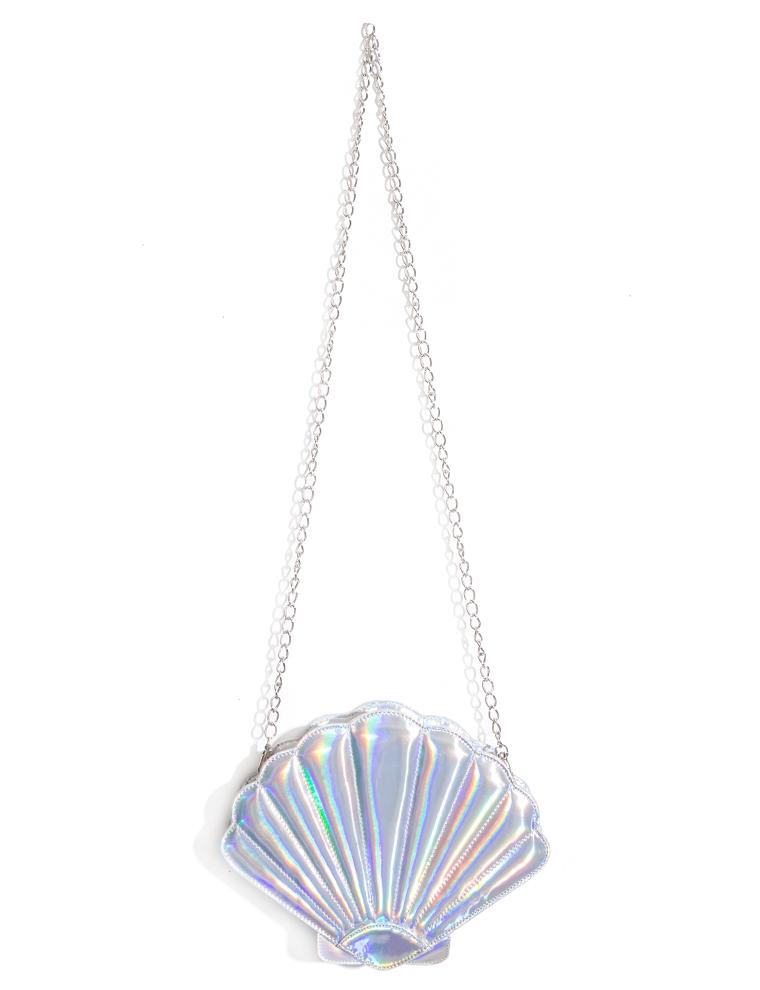 Seashell bag hologram clutch bag for Bag of seashells for crafts