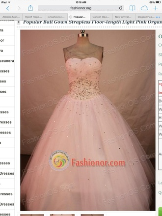 dress baby pink ball gown prom dress