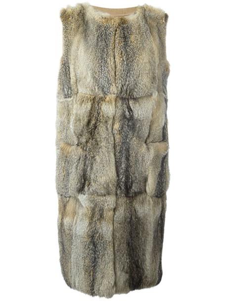 coat sleeveless coat sleeveless fur fox women nude