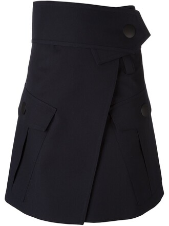 skirt wrap skirt blue