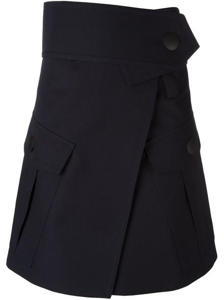 MARNI skirt wrap skirt blue