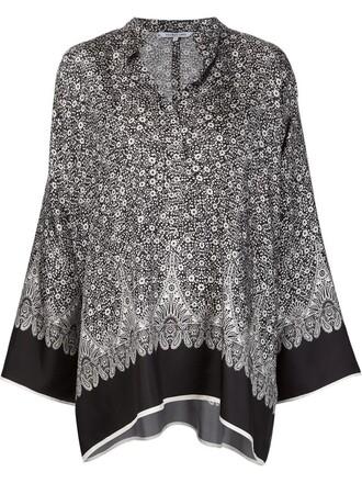 blouse cape black top