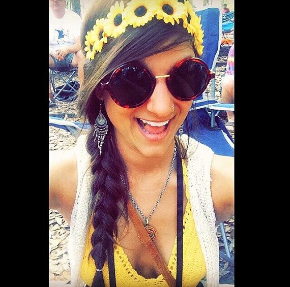Sunflower headband flower crown sunflower bohemian headpiece floral halo sunflower hippie crown festival fashion coachella sunflower halo