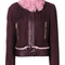 Versace - shearling jacket - women - lamb skin - 42, pink/purple, lamb skin