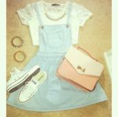 dress,shirt,bag,pinafore dress,denim dress