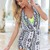 Multi Jump Suits/Rompers - Monochrom Geometric Sleeveless Playsuit with   UsTrendy