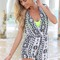 Multi jump suits/rompers - monochrom geometric sleeveless playsuit with | ustrendy